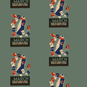 Books in March Woman (WPA)