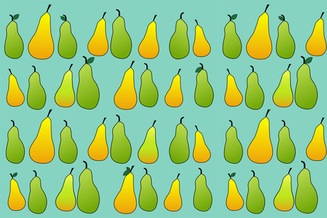 Pears fabric by kmonson on Spoonflower - custom fabric