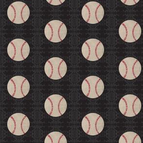 baseball sweater vintage black - Large 467