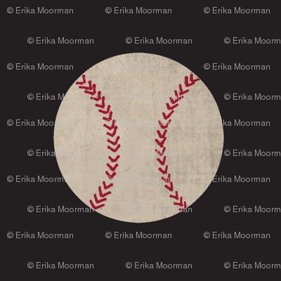 baseball vintage smooth black - Large 467