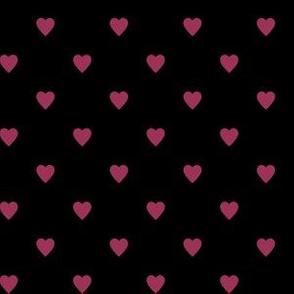 Sangria Pink Hearts on Black