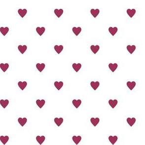 Sangria Pink Hearts on White