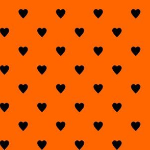 Black Hearts on Orange