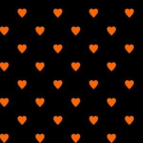 Orange Hearts on Black