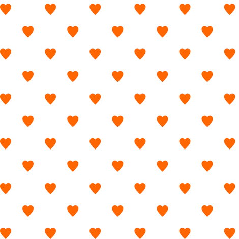 Orange Hearts on White fabric by mtothefifthpower on Spoonflower - custom fabric