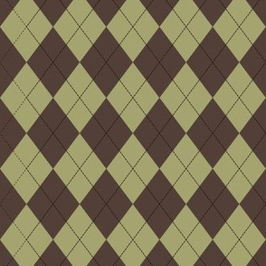 Argyle (brown olive) - 1.5in