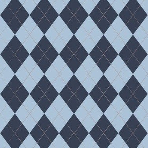 Argyle (blue red) - 1.5in