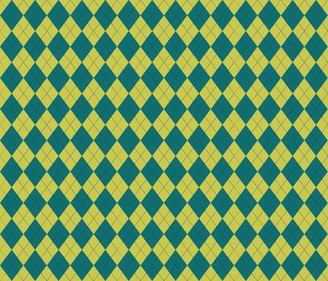 Argyle (teal lime) - 1.5in fabric by studiofibonacci on Spoonflower - custom fabric