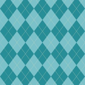 Argyle (teal) - 1.5in