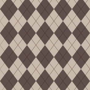 Argyle (brown) - 1.5in