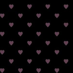Eggplant Purple Hearts on Black