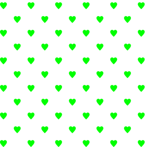Lime Green Hearts on White fabric by mtothefifthpower on Spoonflower - custom fabric