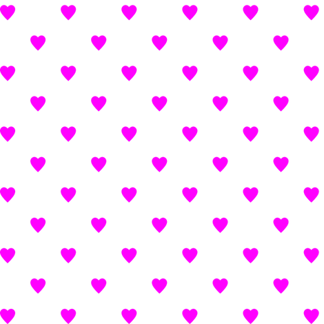 Pink Hearts on White fabric by mtothefifthpower on Spoonflower - custom fabric