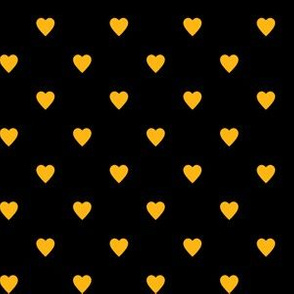 Yellow Gold Hearts on Black