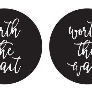 worth the wait onesie applique