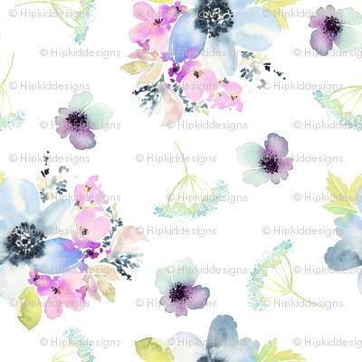 Ocean Breeze Watercolor Florals