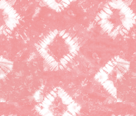 Shibori 01 Soft Flamingo fabric by theplayfulcrow on Spoonflower - custom fabric