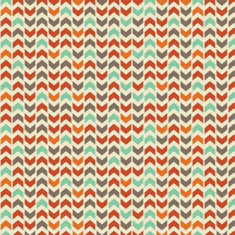fall colored arrowheads fabric by dorkydoodles on Spoonflower - custom fabric