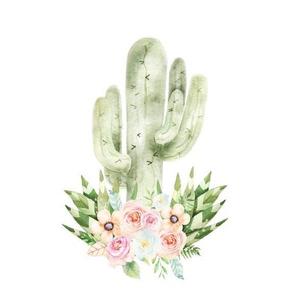 Peach Floral Cactus Oversized