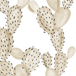 paddle cactus // taupe // oversized