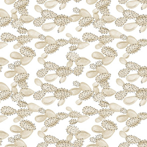 paddle cactus // taupe // small // rotated