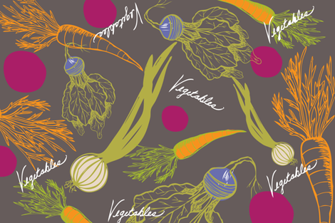 farm_garden_tea_towel fabric by artgirlangi on Spoonflower - custom fabric