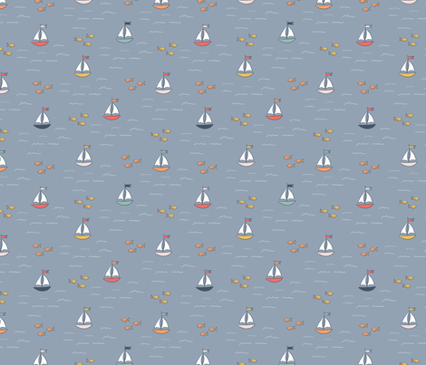 Kissing Cove fabric by juniperr on Spoonflower - custom fabric