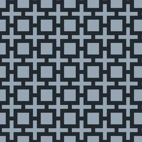 Geometric Pattern: Square + Cross: Grey