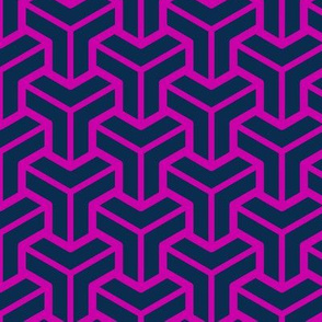Geometric Pattern: Pipes: Magenta