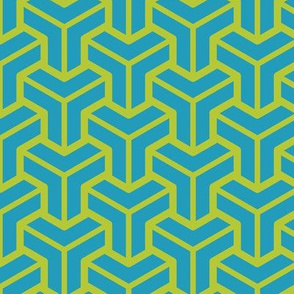 Geometric Pattern: Pipes: Green