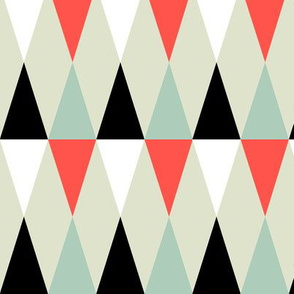 Geometric Pattern: Harlequin: Red/Green