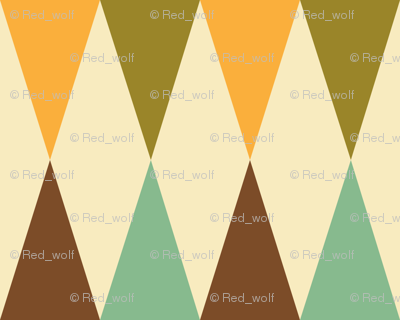 Geometric Pattern: Harlequin: Green/Brown