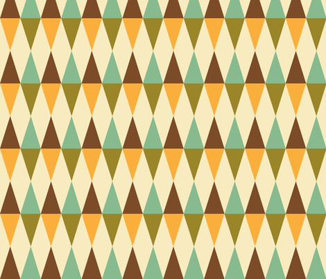 Geometric Pattern: Harlequin: Green/Brown fabric by red_wolf on Spoonflower - custom fabric