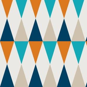 Geometric Pattern: Harlequin: Orange/Blue