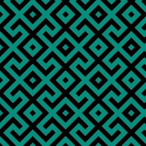 Geometric Pattern: Spider: Green