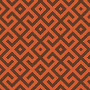 Geometric Pattern: Spider: Orange