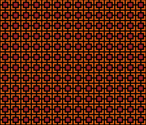 Geometric Pattern: Square Bracket: Red/Orange fabric by red_wolf on Spoonflower - custom fabric