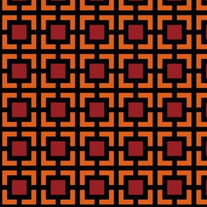 Geometric Pattern: Square Bracket: Red/Orange