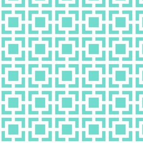 Geometric Pattern: Square Bracket: Blue