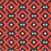 Geometric Pattern: Diamond Delta: Red