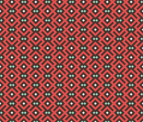Geometric Pattern: Diamond Delta: Red fabric by red_wolf on Spoonflower - custom fabric