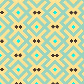 Geometric Pattern: Diamond Delta: Yellow