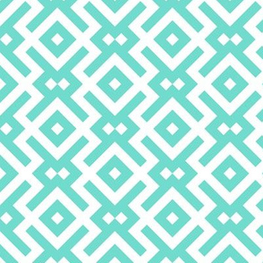 Geometric Pattern: Diamond Delta: Blue