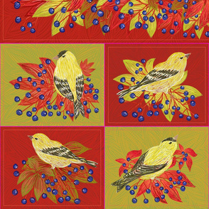 58inchTable set Fall Goldfinches (mix)