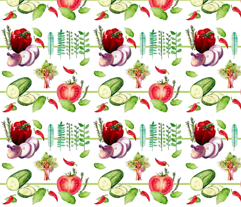 Lets do Salad fabric by floramoon on Spoonflower - custom fabric