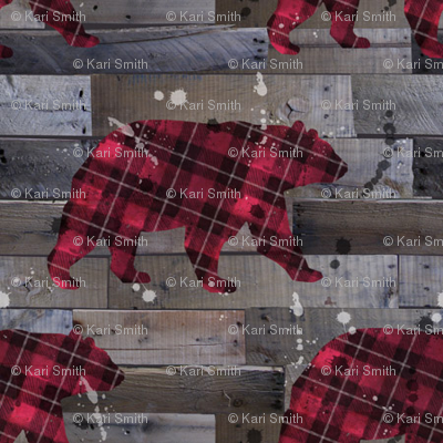 plaid_bear_on_wood_small_scale
