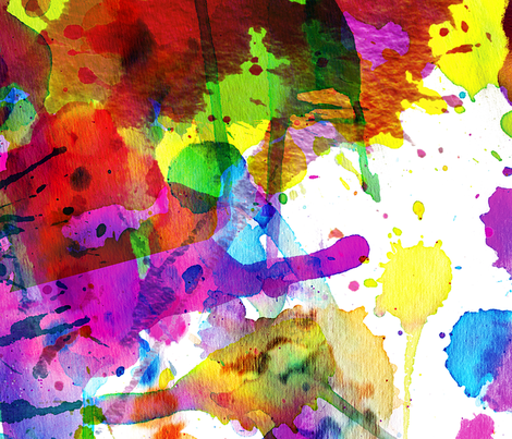 ink splatters 54 inches! fabric by karismithdesigns on Spoonflower - custom fabric