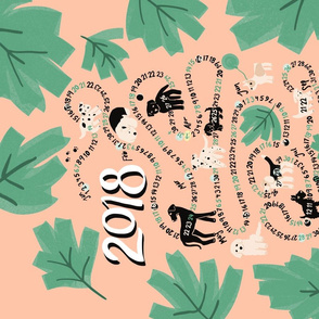 Dog calendar 2018