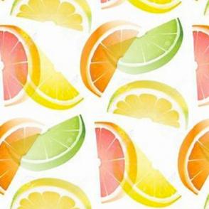 Slices of summer fruit