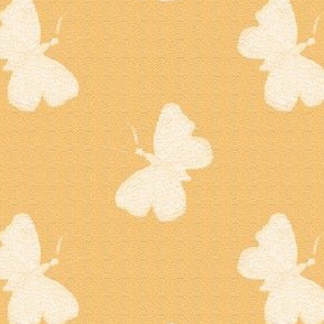 First Frost Butterflies on Butterscotch
